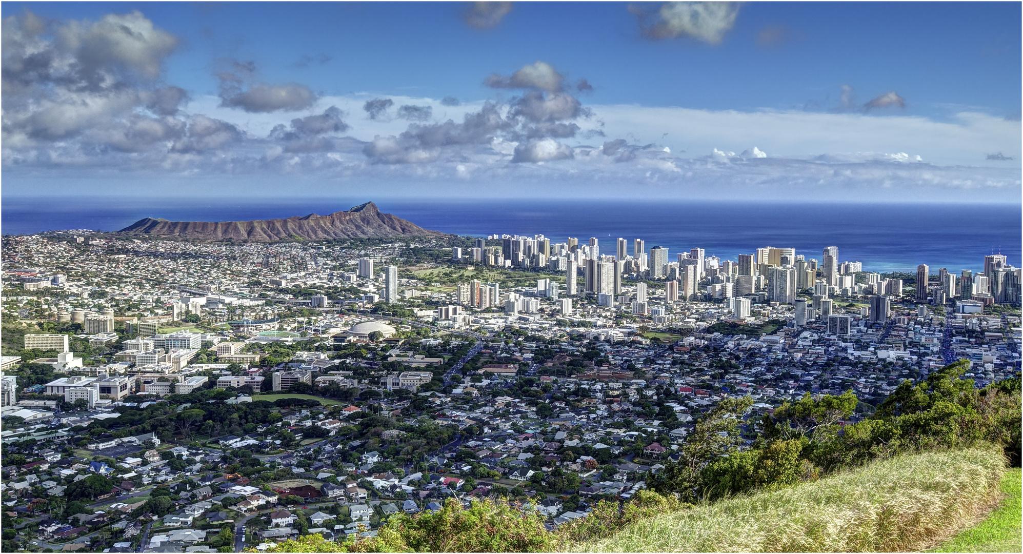 Blick auf Waikiki Beach
