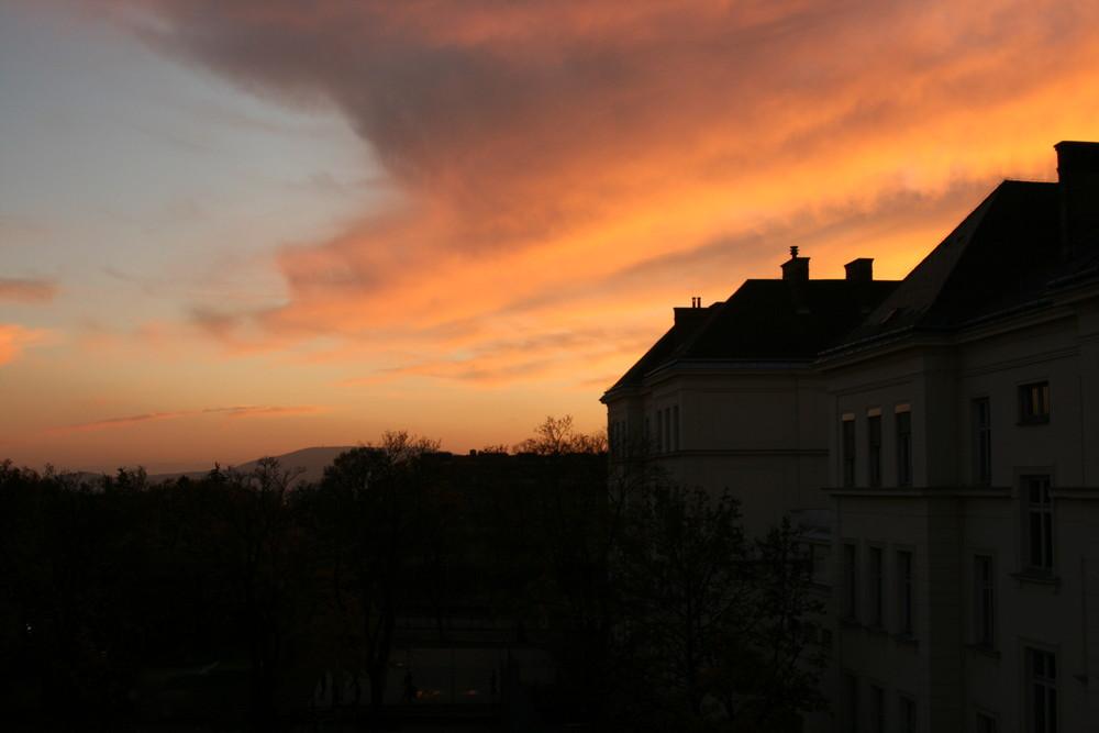 Blick auf Wienerberg