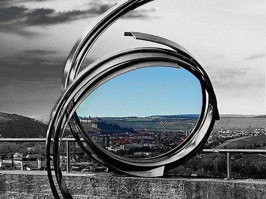 Blick auf Würzburg..