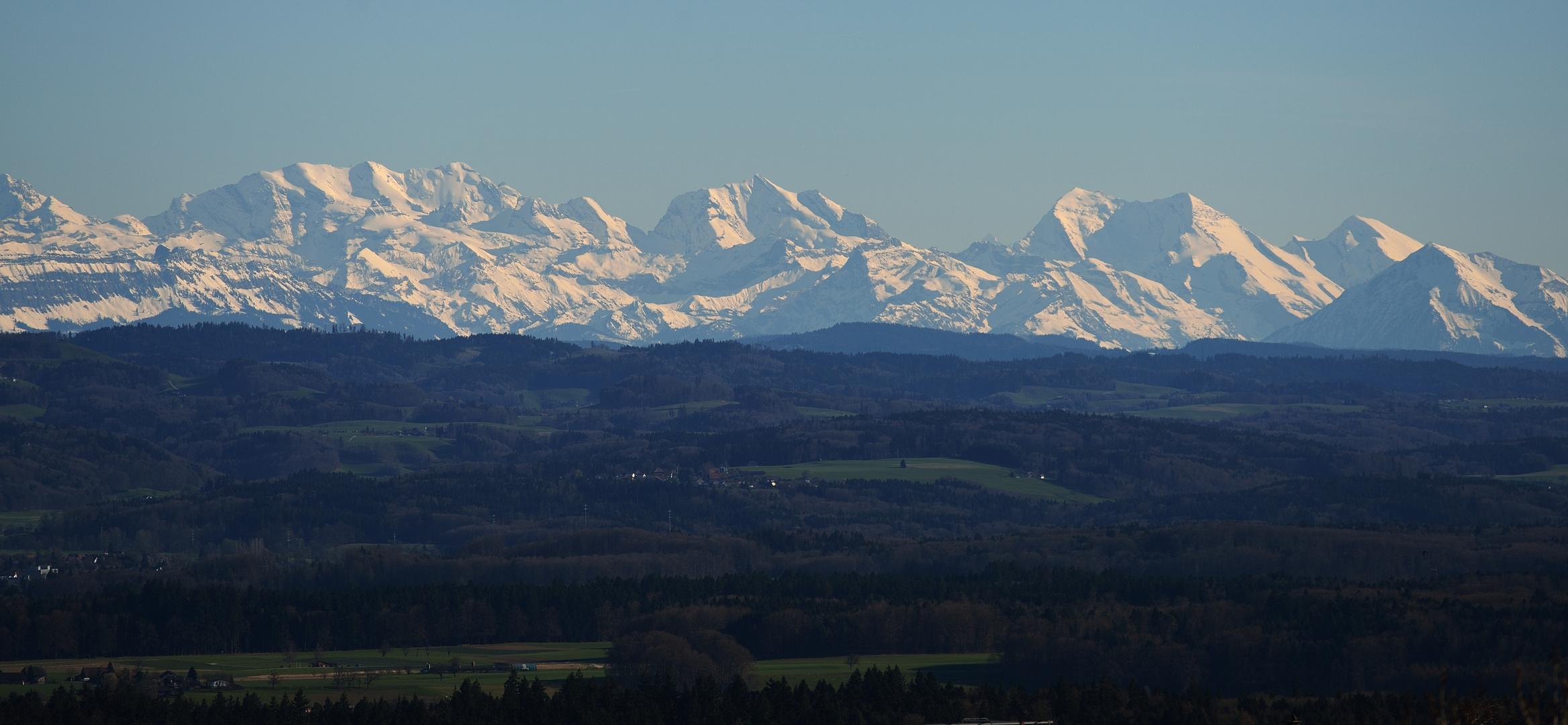 Blick auf's Berner Oberland