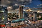 Blick aufs Businessviertel Vilnius