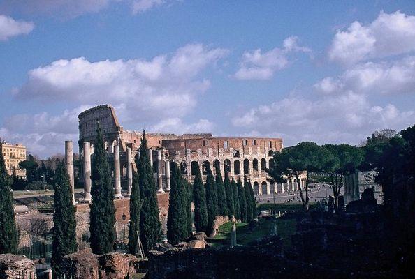 Blick aufs Colosseum