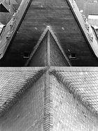 blick auf's dach der frankenbeger liebfrauenkirche