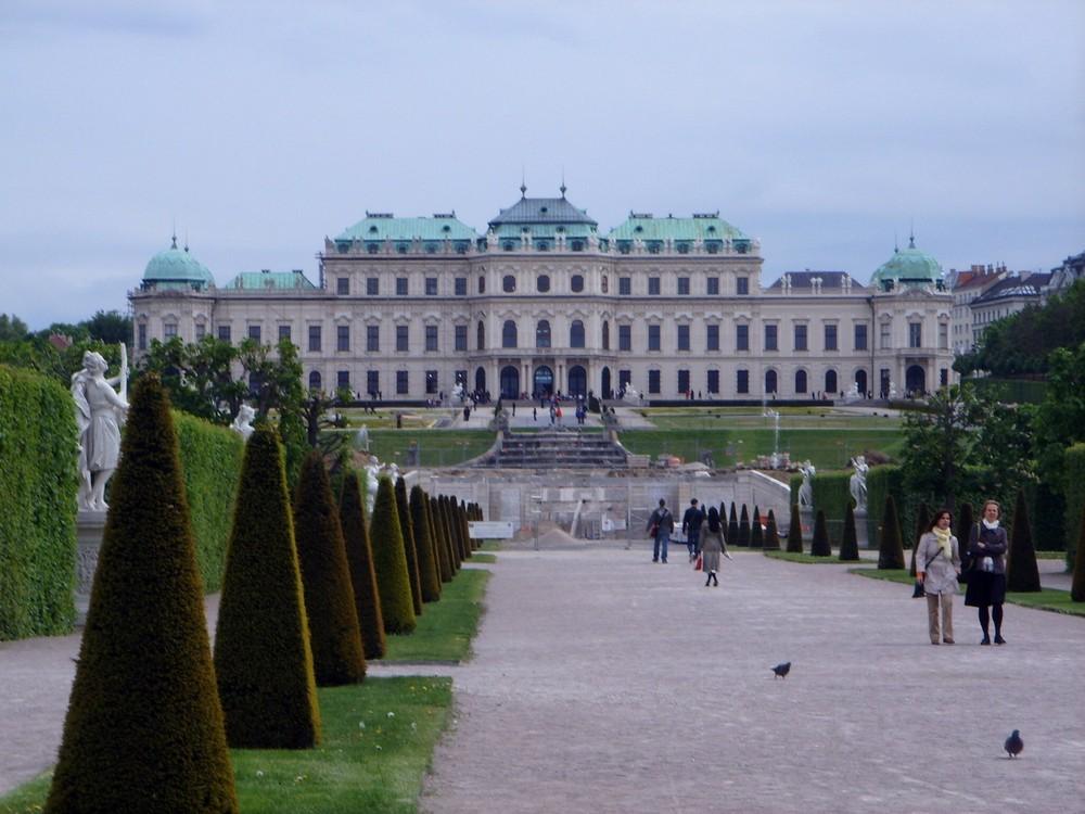 Blick aufs obere Belvedere