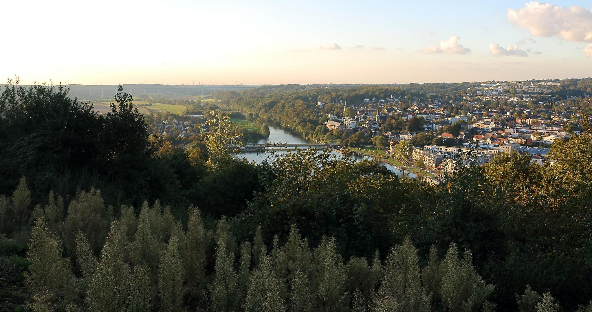 Blick aufs Ruhrtal und Kettwig