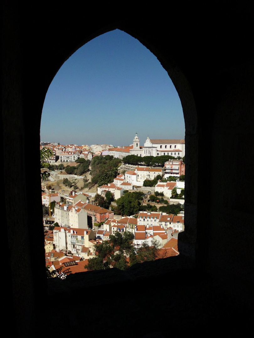 Blick aus dem Castelo de São Jorge in Lissabon