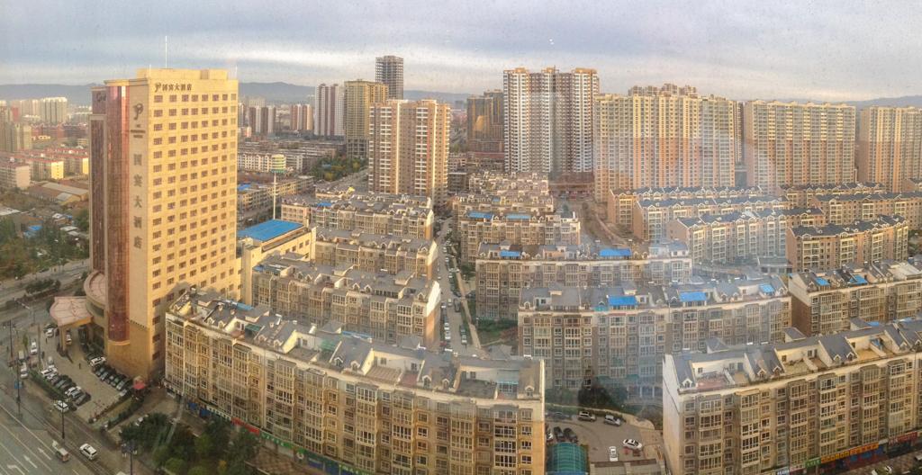 Blick aus dem Hotelzimmer in Datong (China)