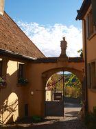 Blick aus dem Kirchof von Maria im Weingarten