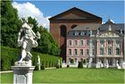Blick aus dem Palastgarten in Trier