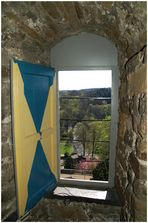 Blick aus dem Turm von Schloss Homburg in Nümbrecht