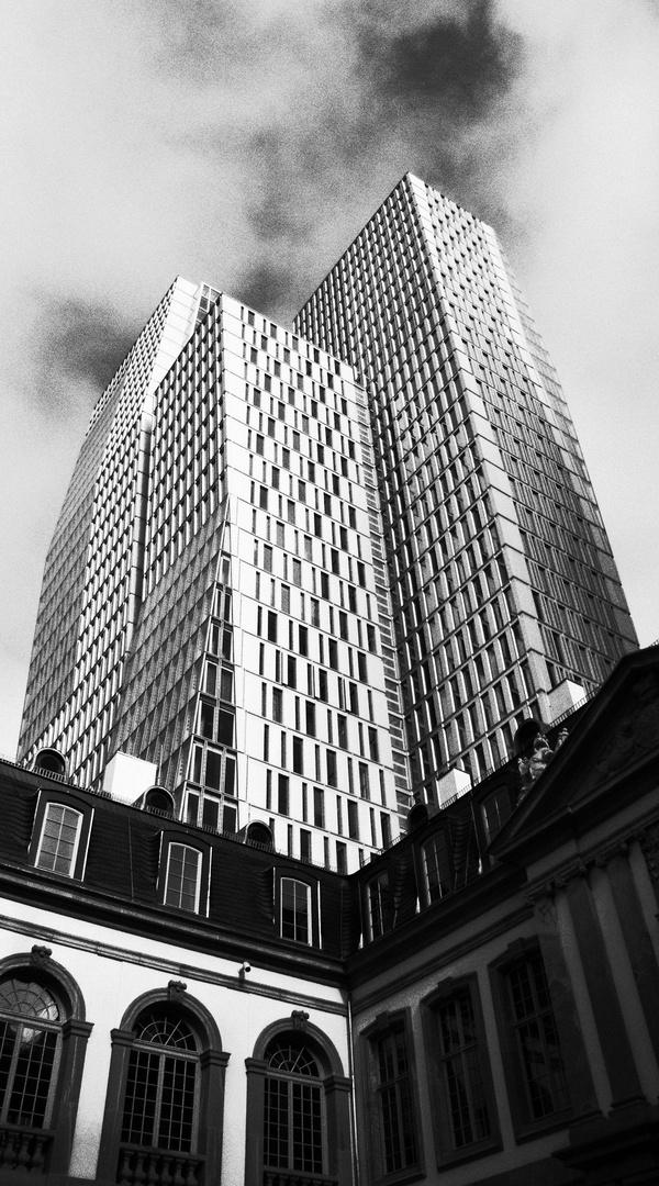 Blick aus dem Turn und Taxis Palais in Frankfurt