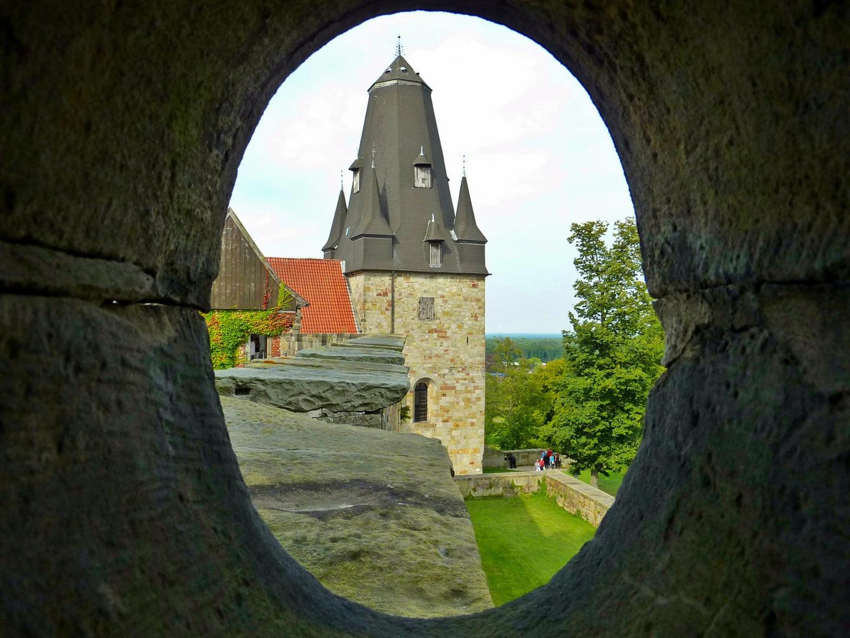 Blick aus der Burg Bentheim, ........