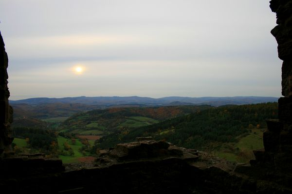 Blick aus der Burgruine Hanstein