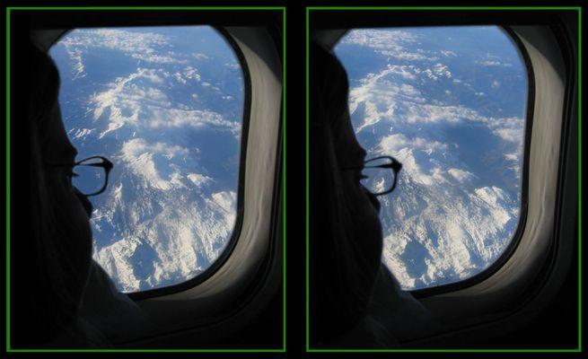 Blick aus der Flugzeugluke