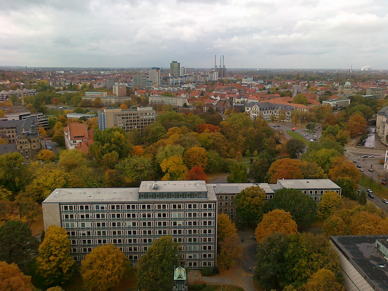 Blick aus der Kuppel des Rathauses