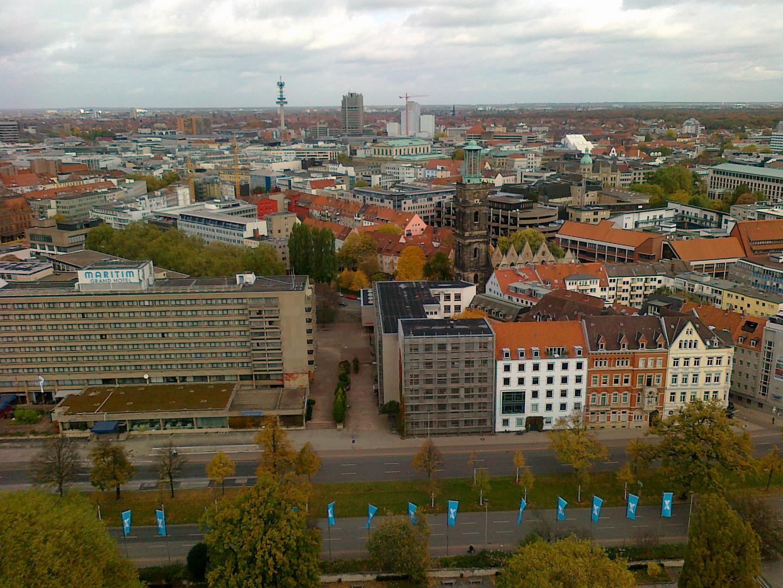 Blick aus der Kuppel des Rathauses 4