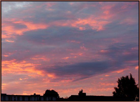 Blick aus meinem Fenster am Abend