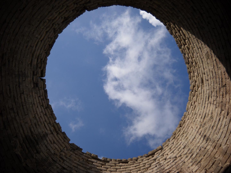 Blick durch den Kamin