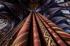 Blick hinauf zum Kreuzgewölbe