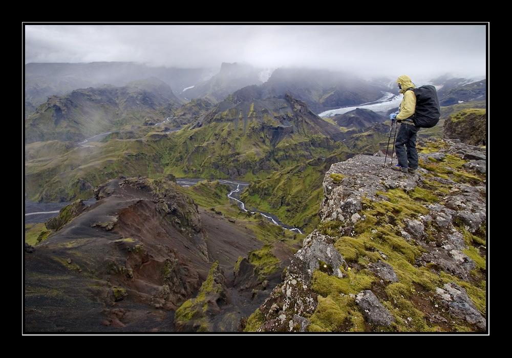 Blick in das Tal von Þórsmörk