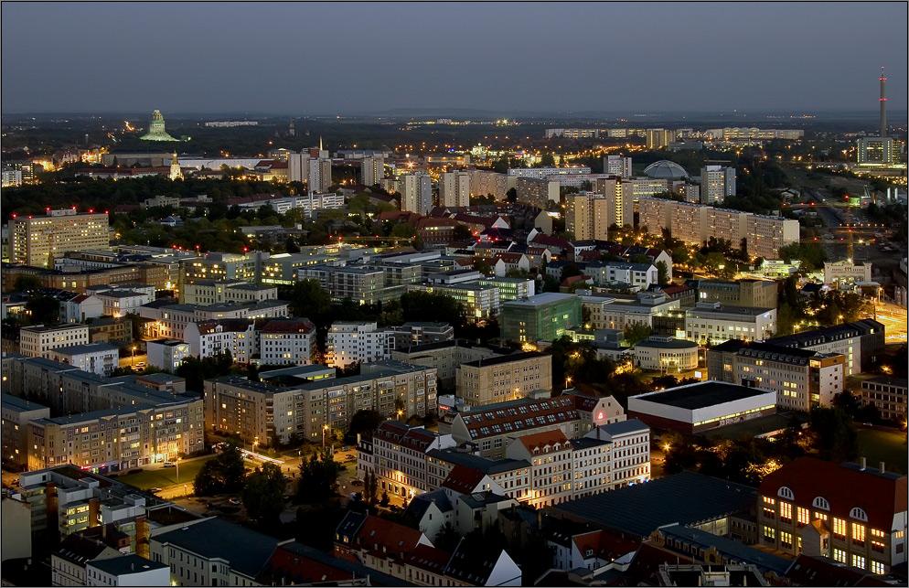 Blick in den Leipziger Süden