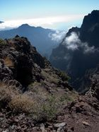 Blick in den Nationalpark Caldera de Taburiente auf der Insel La Palma