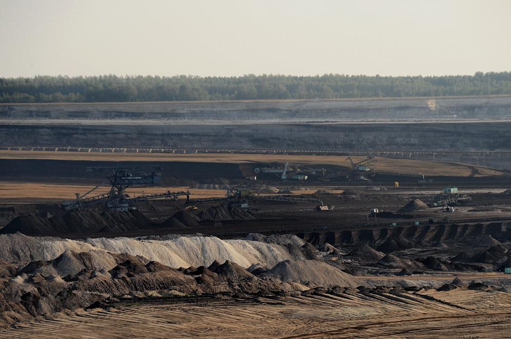 Blick in den Tagebau Schleenhain