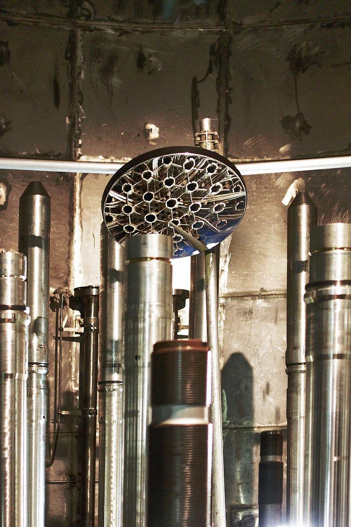 Blick in der Reaktor...