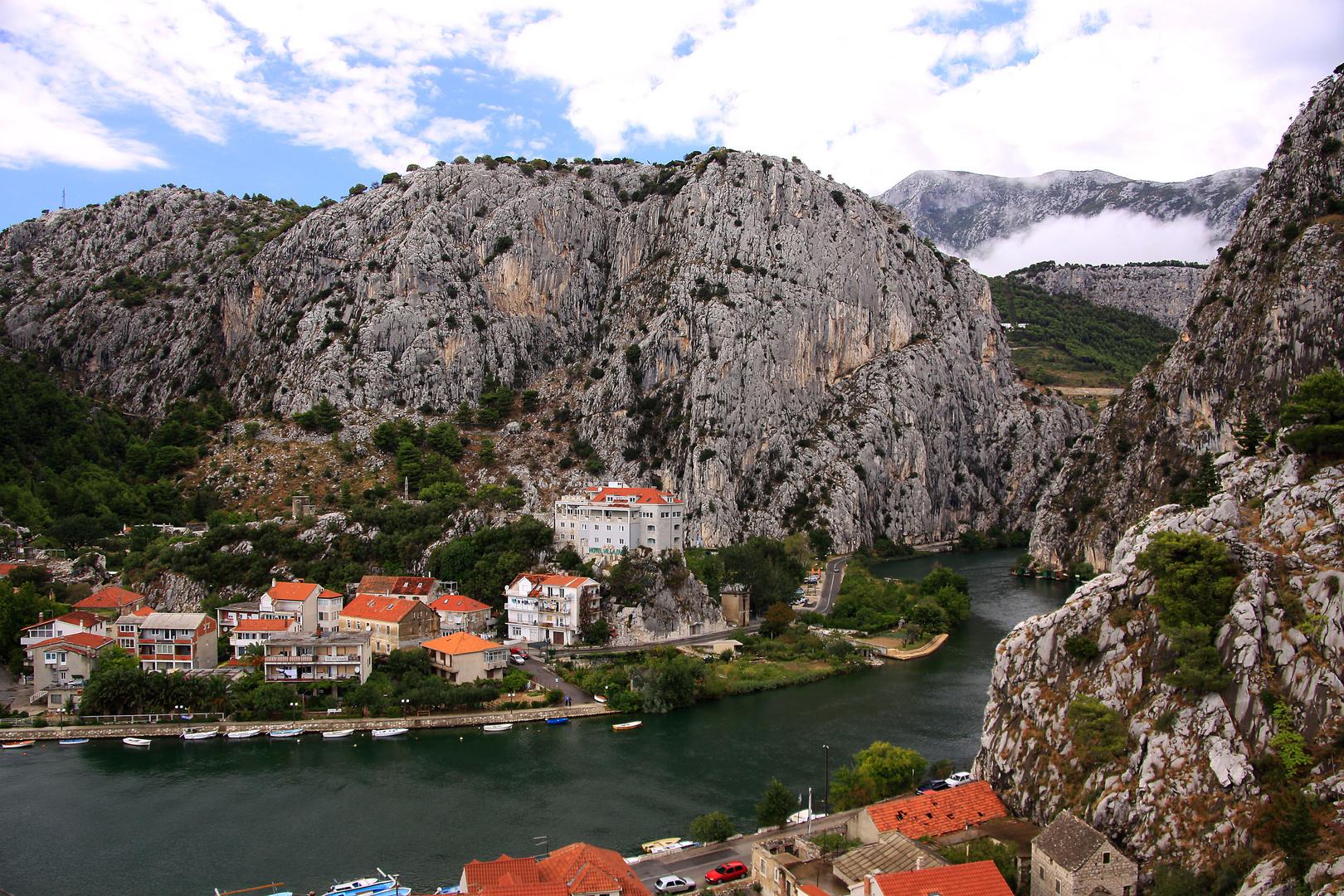Blick in die Cetina-Schlucht