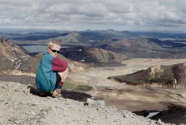 Blick in die Ferne genießen -Island Landmannalaugar