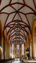 Blick in die größte Hallenkirche Thüringens