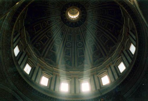 Blick in die Kuppel des Petersdom