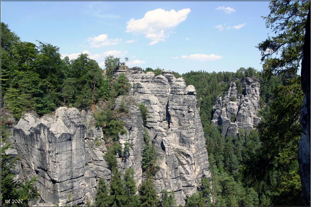 Blick in die Sächsische Schweiz 2