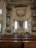 Blick in die Stiftskirche St. Cornelius u. Gyprianus in Bad Buchau 1