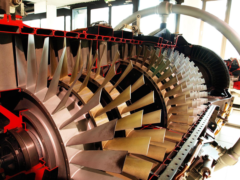 Blick in eine Turbine