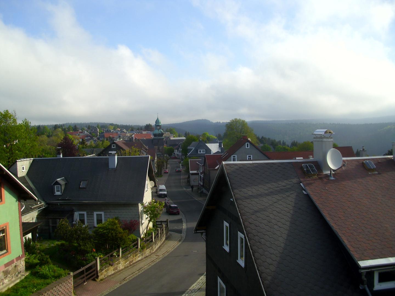 Blick in Richtung Norden auf Frauenwald/ Rennsteig