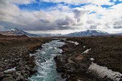 Blick ins isländische Hochland nahe Húsafell