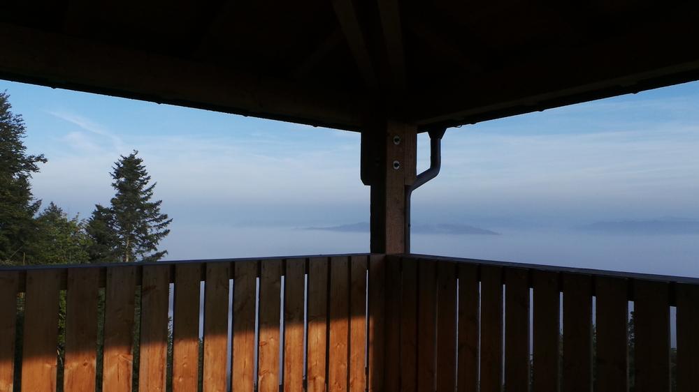 Blick ins Nebelmeer ....