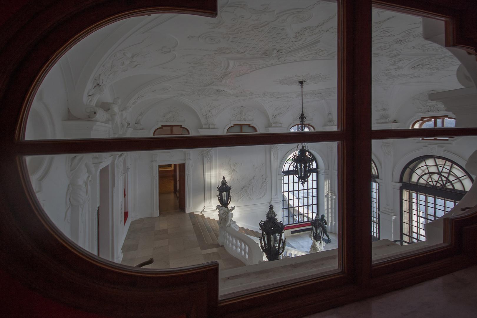 Blick ins Stiegenhaus