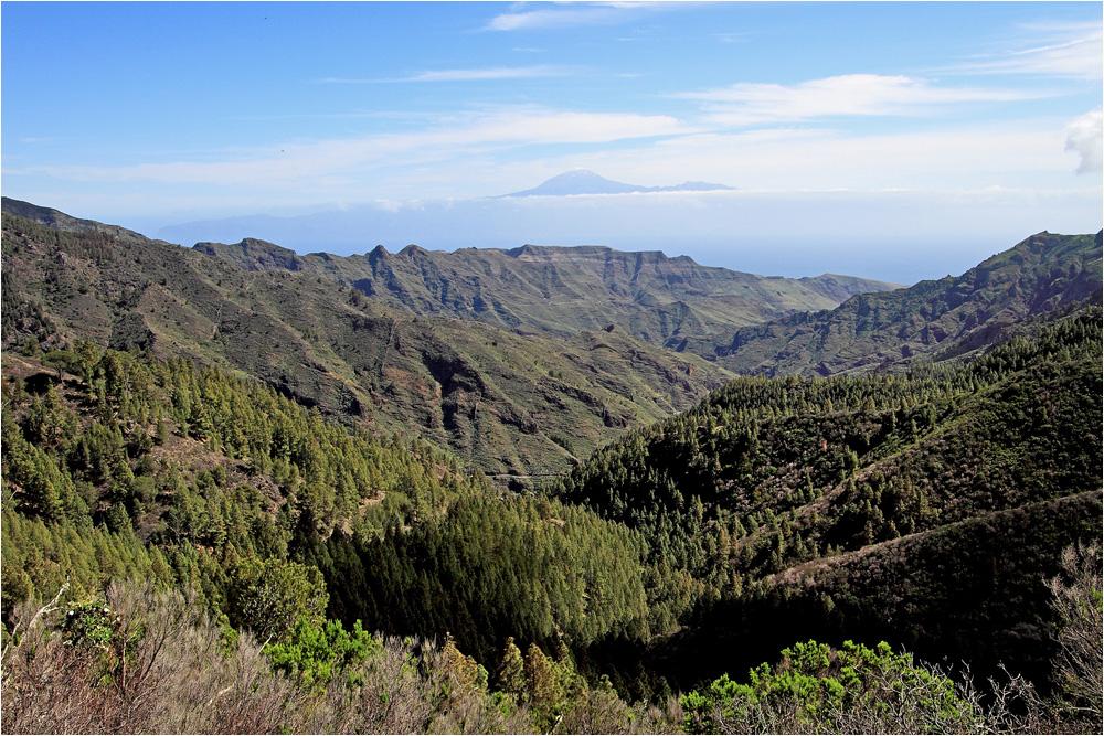 Blick ins Tal von La Laja