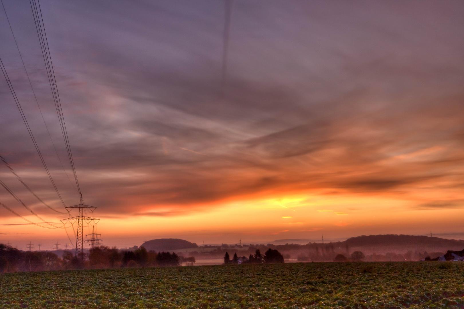 Blick Morgens ins Sauerland