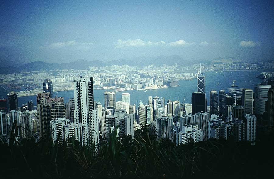 Blick nach Kowloon