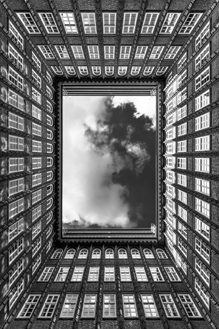 Blick nach oben.