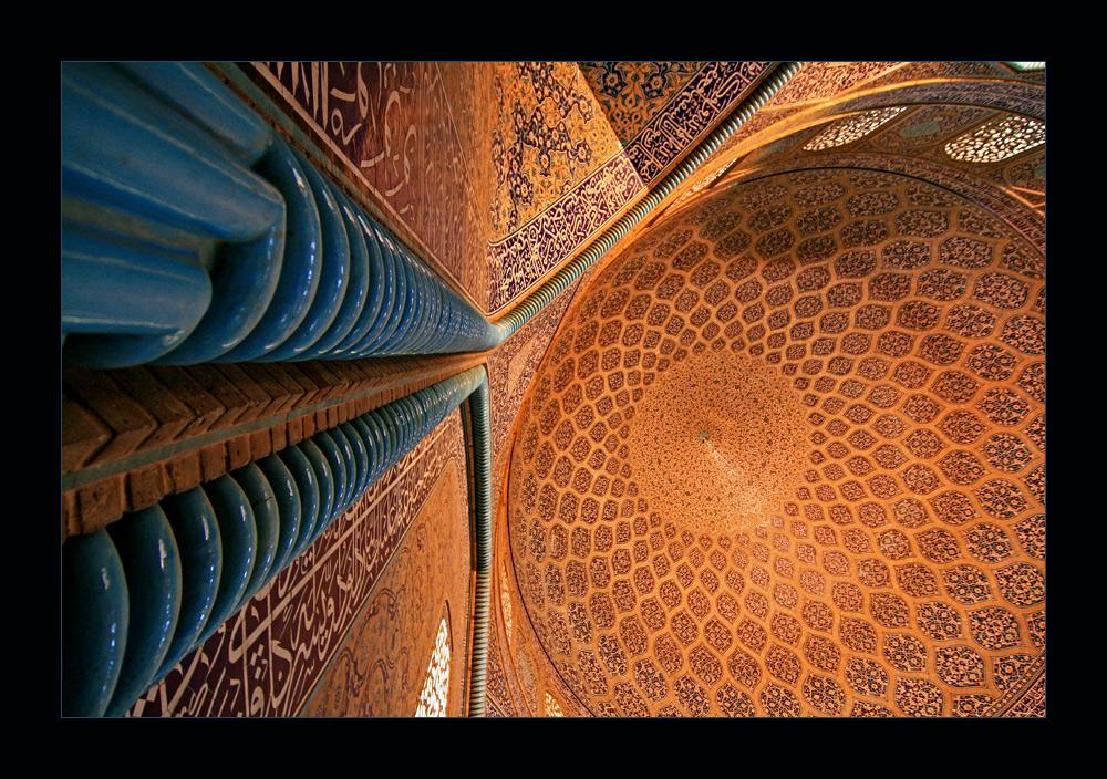 Blick nach oben in der Lotfollah Moschee