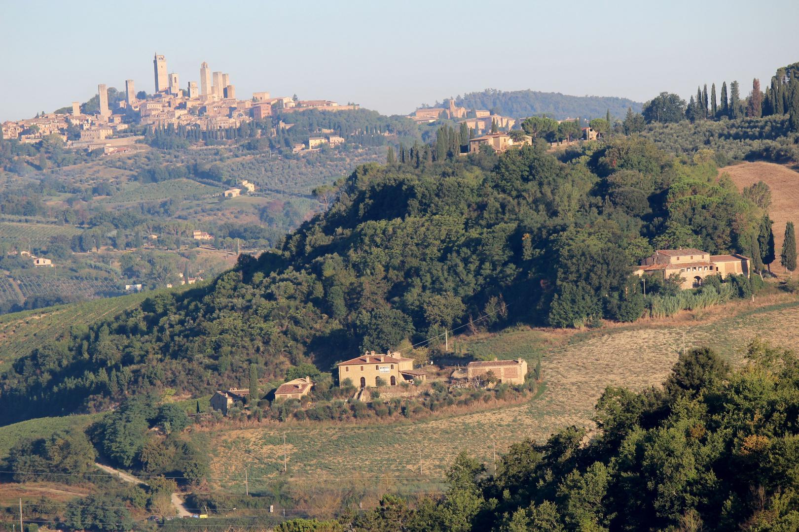 Blick nach San Gimignano