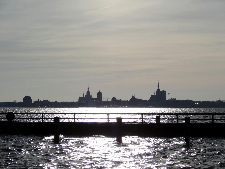Blick nach Stralsund