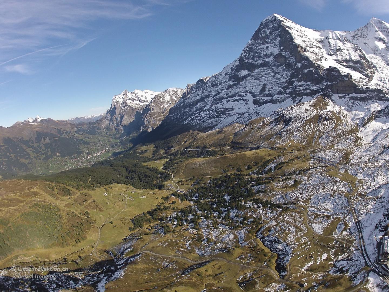 Blick Richtung Grindelwald und Eigernordwand