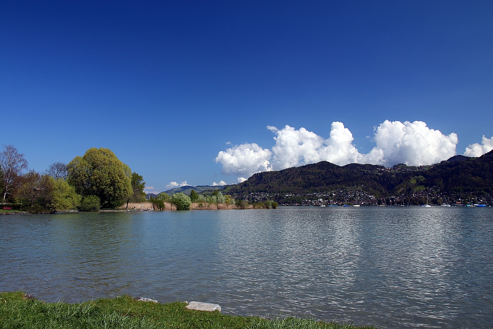 Blick Richtung Thun und Hünibach