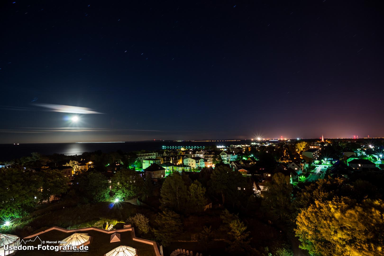 Blick über Ahlbeck in der Nacht am 23.09.2013