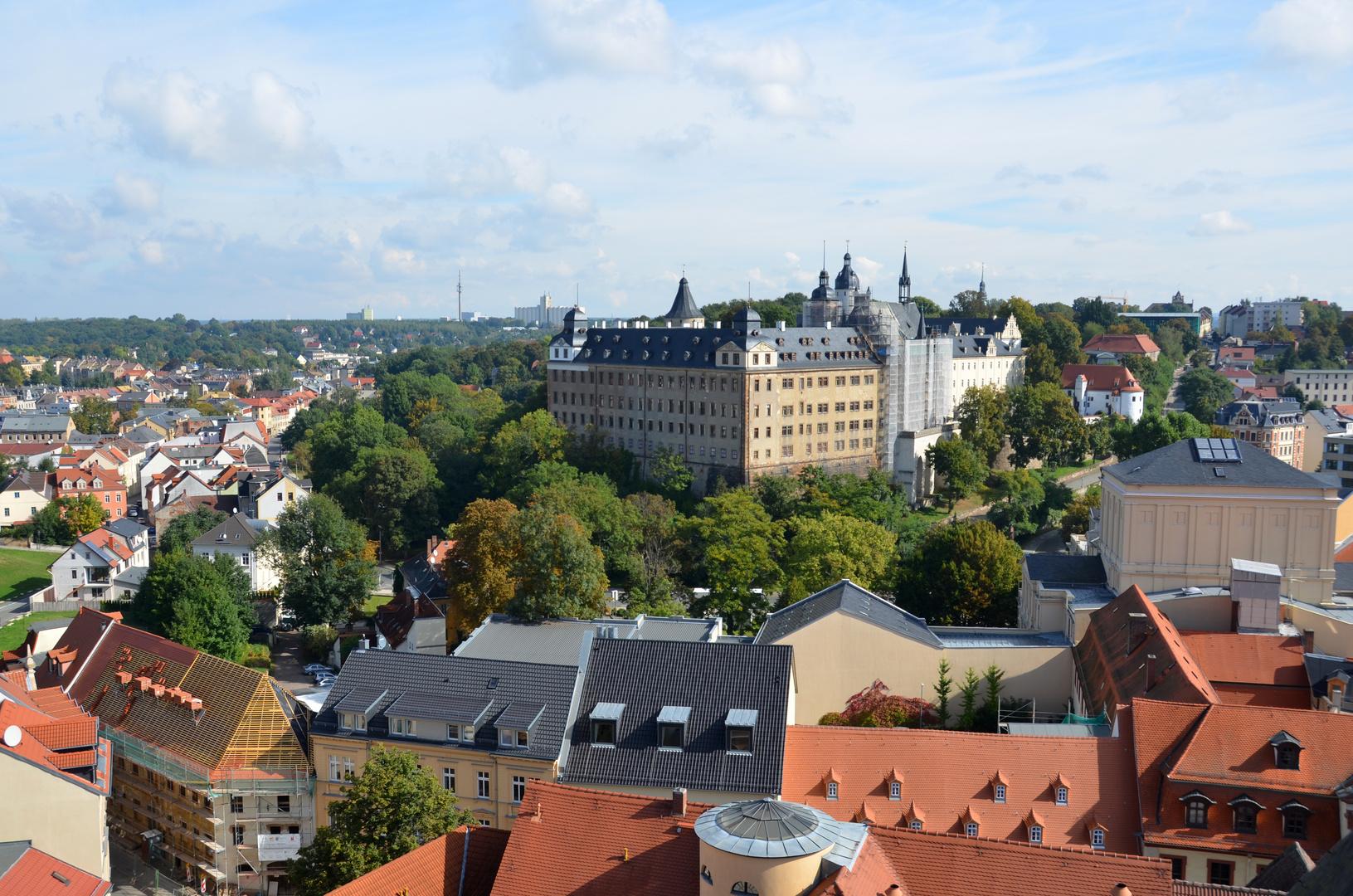 Blick über Altenburg / Thür. mit dem Schloss